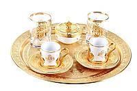 Набор чашек для кофе Романс Sena золотистый на 2 персоны