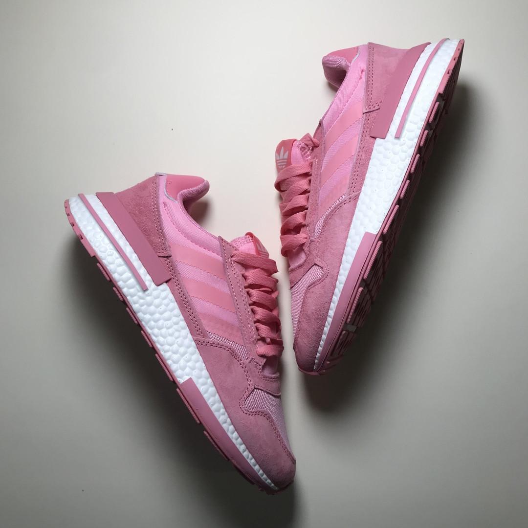 Женские кроссовки Adidas ZX 500 RM Pink, женские кроссовки адидас зх 500
