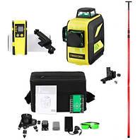 Лазерный уровень Firecore F93T-XG с лазерным приёмником и штангой 4м максимальная комплектация, фото 1