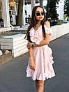 Летнее платье на запах с рюшами и открытыми плечами 17plt1161, фото 5