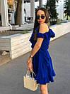 Летнее платье на запах с рюшами и открытыми плечами 17plt1161, фото 6