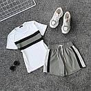 Женский летний спортивный костюм с футболкой и шортами со светоотражающей плащевкой 66spt927Q, фото 5