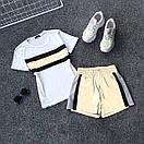 Женский летний спортивный костюм с футболкой и шортами со светоотражающей плащевкой 66spt927Q, фото 6