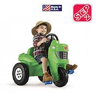 """Детский велосипед """"Фермерский трактор"""" на педалях, зеленый"""
