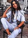 Летний женский костюм тройка со свободной футболкой, штанами и шортами 5kos718, фото 5