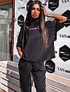 Летний женский костюм тройка со свободной футболкой, штанами и шортами 5kos718, фото 7