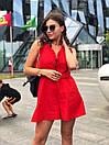 Женский летний комбинезон с широкими шортами и открытой спинкой 17kos721, фото 3