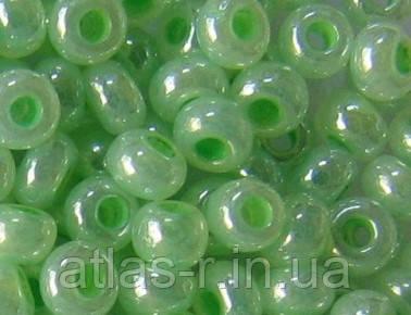 Бисер Preciosa Чехия №37154 1г, светло-зеленый жемчужный