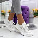Летние спортивные женские кроссовки из текстиля со шнуровкой OB6364, фото 3
