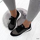 Летние спортивные женские кроссовки из текстиля со шнуровкой OB6364, фото 4