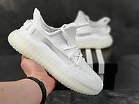 Кроссовки Adidas Yeezy Boost 350 (мужские, демисезонные, белые)