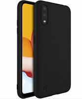 Чехол для Samsung Galaxy A01 A015 силиконовый черный (самсунг а01)