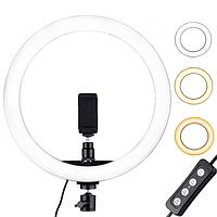 Светодиодная кольцевая лампа 26 см диаметр Pro Ring Fill Light, 3 режима, с пультом, без штатива