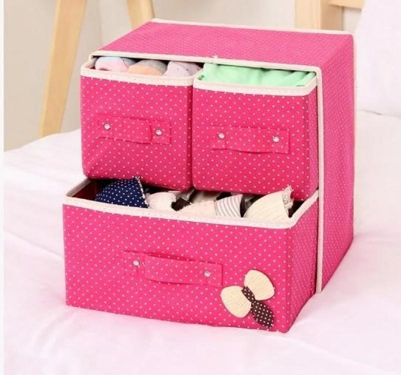 Мини комодик для белья (розовый)