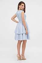 Коктейльне блакитне плаття з воланами розмір від 42 до 48, фото 3