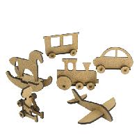 Заготовка 3Д фигурок для оформления шедоубокса.