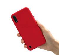 Чехол для Samsung Galaxy A01 A015 силиконовый красный (самсунг а01)