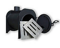 Буржуйка длительного горения с камерой дожига вторичных газов