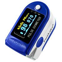 Пульсоксиметр Contec CMS50D Цветной OLED дисплей Синий (tdx0001083)
