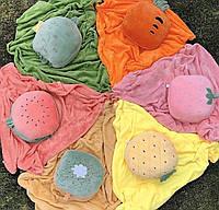 Игрушка плед подушка трансформер 3-в-1 фрукты