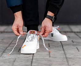 Женские и мужские кроссовки Nike Air Force 1 Low Just Do It Pack White, фото 3