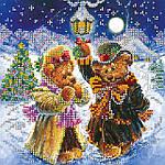 """Схема для вышивания бисером на художественном холсте """"Искры волшебной зимы"""""""