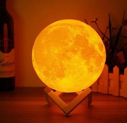 Настольный светильник Magic 3D Moon Light, фото 2