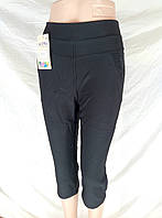 Синие бриджи плотные баттал женские с карманами Ласточка   ЛЖЛ-3032, фото 1