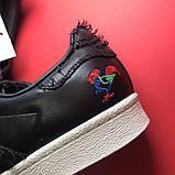 Кроссовки Adidas Superstar Black White, кроссовки адидас суперстар, фото 6