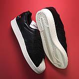 Кроссовки Adidas Superstar Black White, кроссовки адидас суперстар, фото 4