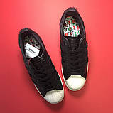 Кроссовки Adidas Superstar Black White, кроссовки адидас суперстар, фото 3