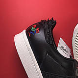 Кроссовки Adidas Superstar Black White, кроссовки адидас суперстар, фото 7