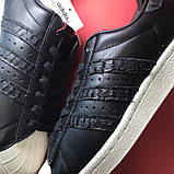 Кроссовки Adidas Superstar Black White, кроссовки адидас суперстар, фото 8