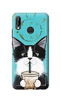 Чехол «Кот и кофе» для Huawei P20 Lite (2018) Силиконовый