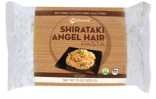 Vitacost ширатаки Angel Hair Pasta очень низкокалорийная лапша из Glucomannan (Конняку) 200 гр