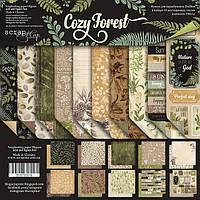 Набор бумаги 20х20см от Scrapmir Cozy Forest  10шт.