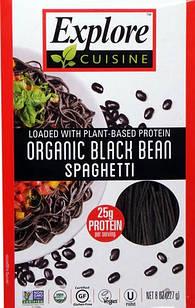 Explore Cuisine органічні спагетті з чорних соєвих бобів багаті білком (25 гр) уп. 227 гр.