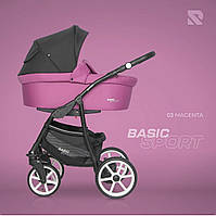 Дитяча коляска 2 в 1 Riko Basic Sport 03 Magenta