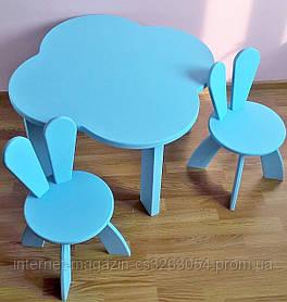 Детский столик и два стула ,деревянный экко стульчик,письменный стол и стул,столик и стульчик Зайка