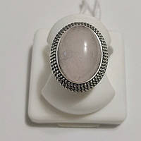 Кільце срібне з рожевим кварцом Сільвія, фото 1