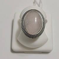 Кольцо серебряное с розовым кварцем Сильвия, фото 1