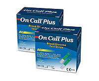 2 упаковки-Тест смужки On Call Plus (Він Колл Плюс) - 50 шт!! 08.07.2022 р.