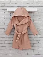 Муслиновый халат Soft, капучино, фото 1