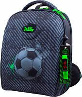 Рюкзак школьный ортопедический ранец DeLune для мальчика футбол + сменка + пенал + часы