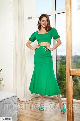 Яркий женский костюм с топом и юбкой, размеры XS, S, M, L