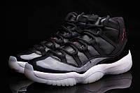 Мужские баскетбольные кроссовки New Air Jordan Retro 11 Black, фото 1