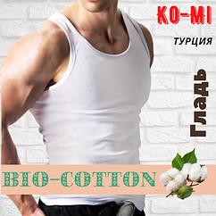 Мужская майка Ko-Mi хлопок Турция белая размер 7-М,20011475