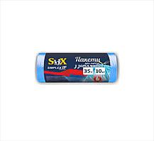 """Пакети для сміття ТМ """"Simplex"""" з затяжкою 35л. (10шт.) 15 мкм 50 шт./ящ."""