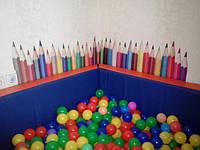 """Декоративная интерьерная наклейка на стену """"Разноцветные карандаши"""""""