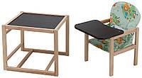 Стульчик- трансформер Babyroom Карапуз-100 eko МДФ столешница  зеленый (мишки и пчелки)